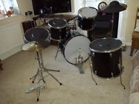 Drum Kit , symbol and high hat plus set of drum 'silencers' !