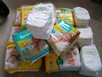 251 size 1 baby nappies