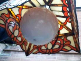 Tiffany glass ceiling lamp