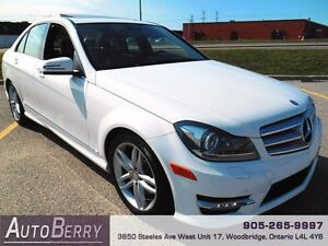 2013 Mercedes-Benz C-Class 4MATIC **ACCIDENT FREE ONE OWNER**