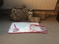 Pink lining multi bows blooming gorgeous mini yummy mummy purse bag bottle holder