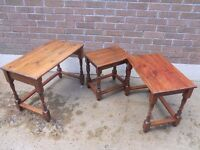 Nest of Tables (3) - Stained Pine