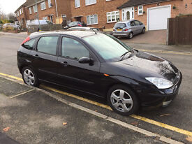Great condition Black 1.8 Ford Focus late 2004, FSH & MOT 12mths