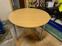 BUNDLE DEAL - Round Office Meeting Room Table / Set of 4 Matching Chairs