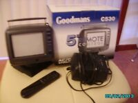 "Goodmans 5"" remote control CRT TV"