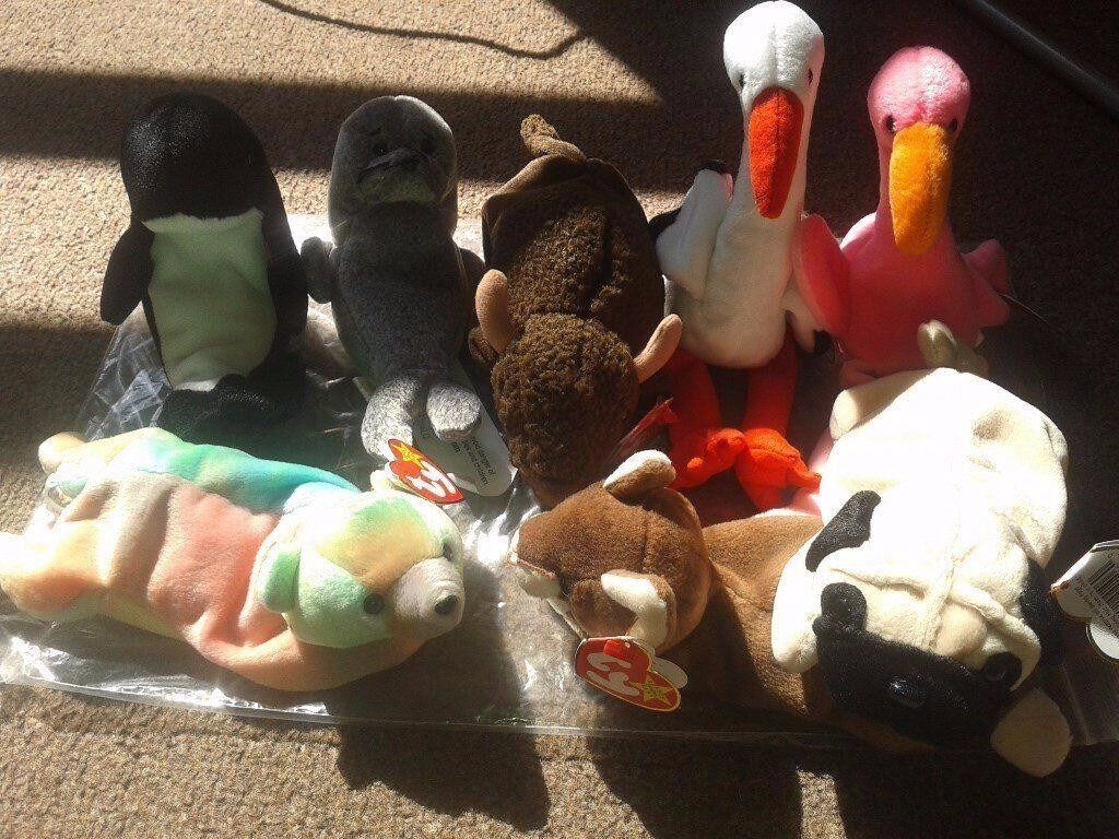 TY beanie babies collectables with tags