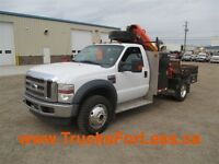 2008 Ford F-550 XLT 4X4, PICKER + SERVICE DECK!!!