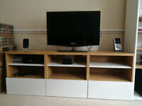IKEA BESTA TV bench - shelving unit with drawers