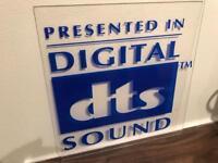 Digital DTS Sound genuine original Cinema Screen sign