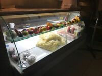 Display fridge in excellent condition only 1 years old 2 meters