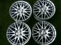 17 inch 4x100 alloy wheels