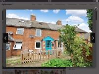 2 Bed Period Terraced Cottage in Faringdon, Oxfordshire with 180 foot garden