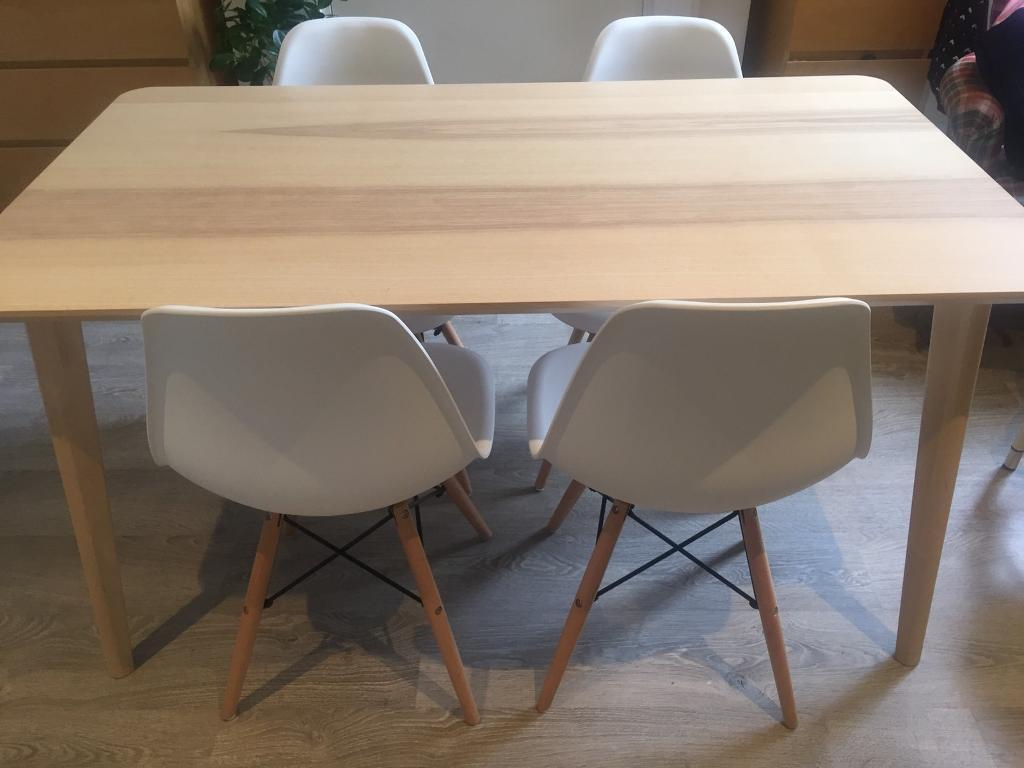 ikea lisabo ash veneer dining table in kilburn london gumtree. Black Bedroom Furniture Sets. Home Design Ideas