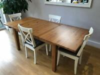 IKEA Störnas Extendable Table and 6 Ingolf chairs