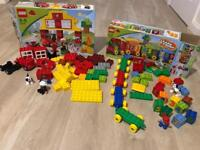 Lego Duplo boxed train and fire station