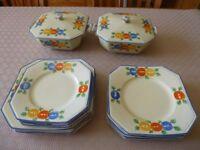 Vintage hand painted Pallisy England tableware