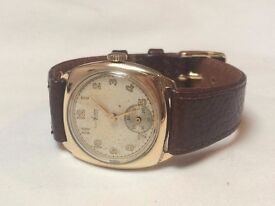 CHEAP Vintage 9k 9ct solid gold Avia mens mens cushion watch NOW REDUCED AGAIN