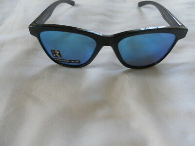 f067902a92000 NEW AUTH OAKLEY MOONLIGHTER BLACK FRAME PRIZM SAPPHIRE MENS SUNGLASSES  9320-16