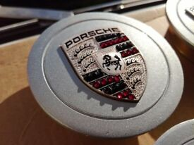 Porsche Wheel Centre Caps - Made With Swarovski Crystal - 75 mm