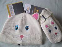 REGATTA Animally Bear Hat & Gloves set - brand new