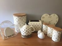 Next cream kitchen set with bin