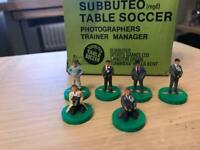 Original 1970s Subbuteo Photographers, Trainer and Manager