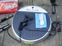 Vibration / vibrating plate / Vibropower disc, instructions and remote control, great condition