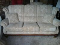 Sofa and matching armchair £135
