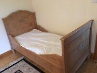 Pine Antique child's bed