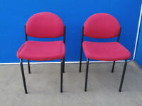 Red chairs x set of 2 (Delivery)