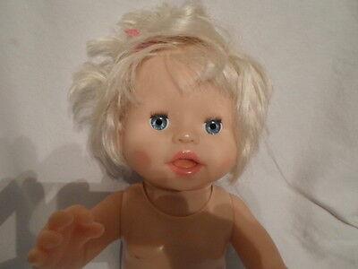 "2007 Fisher Price Mattel Little Mommy Ah Choo Talking Sneezing Baby Doll 14"""
