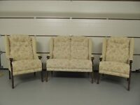Three Piece Suite - 1 x 2 Seater & 2 x Single Seaters