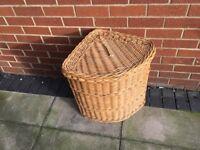 Corner Wicker Wash Basket
