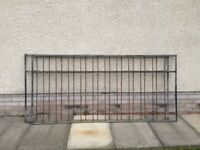 4 sections of steel Fencing & 1 Gate