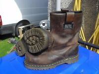 Genuine Doc Martins slip on work boots. Size 9
