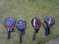 Selection of Tennis Raquets