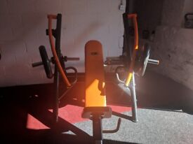Incline chest press commercial gym machines