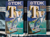 Brandnew VHS Tapes 180 (3 Hours) X2