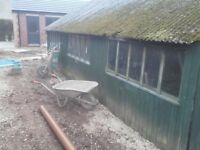 5mx7.5m garage /large wooden shed