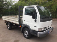 ONLY 76,000 MILES NISSAN CABSTAR DROPSIDE TRUCK 56 REG - 1 OWNER - DRIVES PERFECTLY - NO VAT!!!!!!!