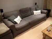 Second hand grey large 4 seater sofa with detachable corner