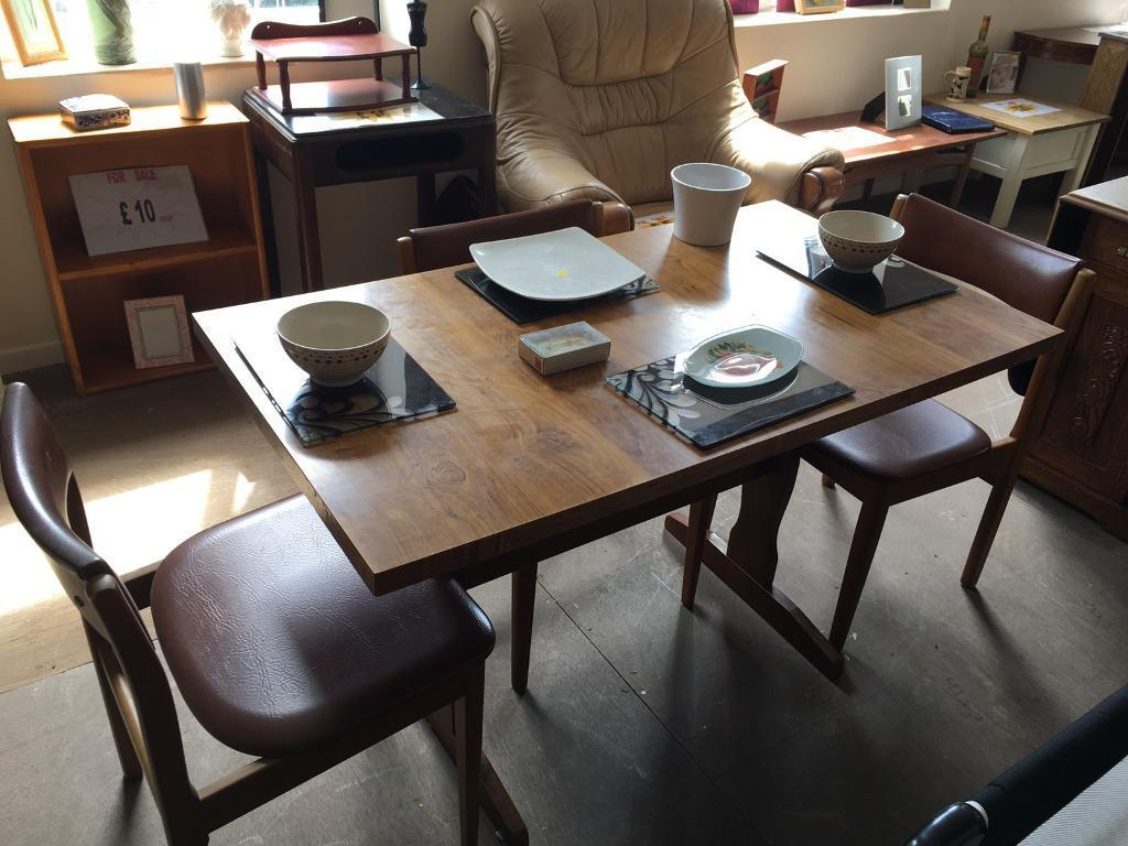 Wooden sinking table and 50 matching chairs | in Wombwell, South ...
