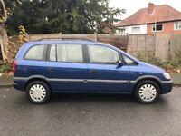 Vauxhall zafira 7 seater 2003