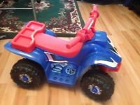 KIDS ELECTRIC QUAD MOTOR BIKE RIDE ON CAR 6V BATTERY RECHARGEABLE .