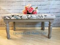Newly upholstered Large Bench Seat Footstool. Delivery available