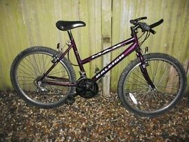 Raleigh ladies adult bike 15spd twist gears gel saddle little used very good condition will deliver