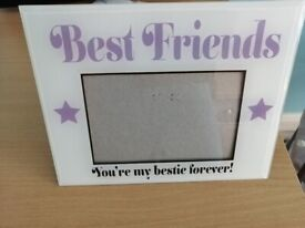 Glass Best Friends Photo Frame