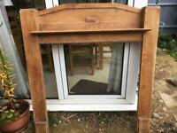 SOLID WOOD (OAK) FIRE SURROUND 137 X 128 CM 1930'S -1940'S?