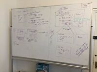 Big 2m x 1.5m whiteboard for sale