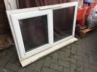 Used white Upvc Window Externally glazed Work shop, shed, garden building W2